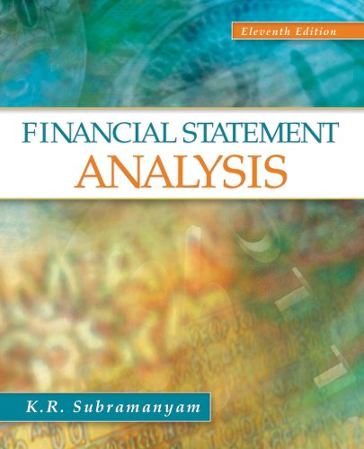 solution manual financial statement analysis 11th edition subramanyam chapter 7