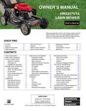 honda hrx217hza lawn mower manual