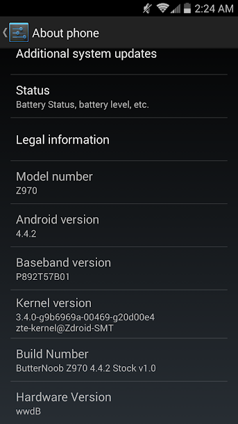 update android system manually zte zmax 2